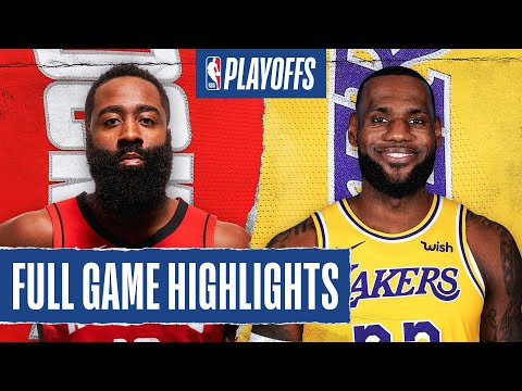 Rockets At Lakers Full Game Highlights September 4 2020 Youtube