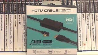 Hyperkin PSP HDMI Cable LIVE Unboxing and Review