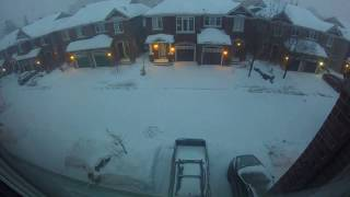 24 hour timelapse of the Ottawa winter storm 2019-02-12/13