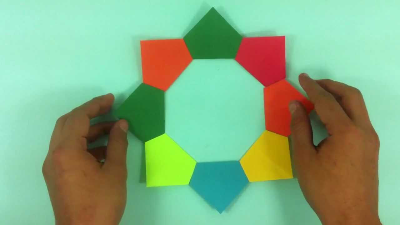 Hacer un bonito portaretratos marco de fotos de papel - Marcos de papel para fotos ...