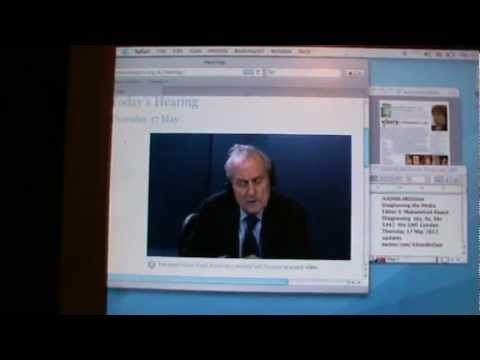 AADHIKAR clip of Harold Evans to the  Leveson Inquiry Thurs 17 May 2012.MPG
