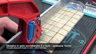 Cutting mosaic and glass with manual tile cutter