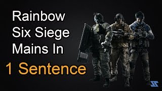 Every Rainbow 6 main described in 1 sentence