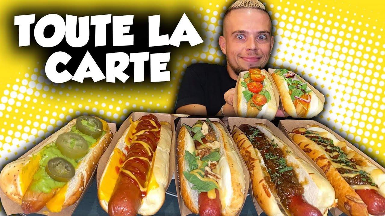 "JE MANGE TOUTE LA CARTE de ce RESTO de HOT-DOGS !! (+ Jeu Concours ""Gagner 1 An de Hot-Dogs"")"