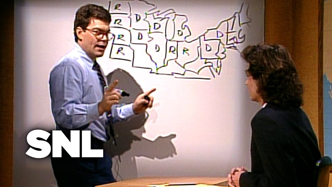 Al Frankens Electoral Map Saturday Night Live YouTube - Al franken draws us map