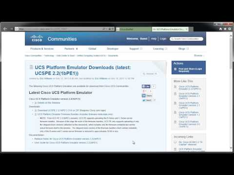 How to Download the UCS Platform Emulator - YouTube