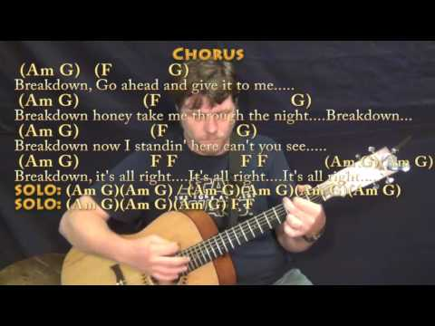 Breakdown (Tom Petty) Guitar Lesson Chord Chart With Chords/Lyrics