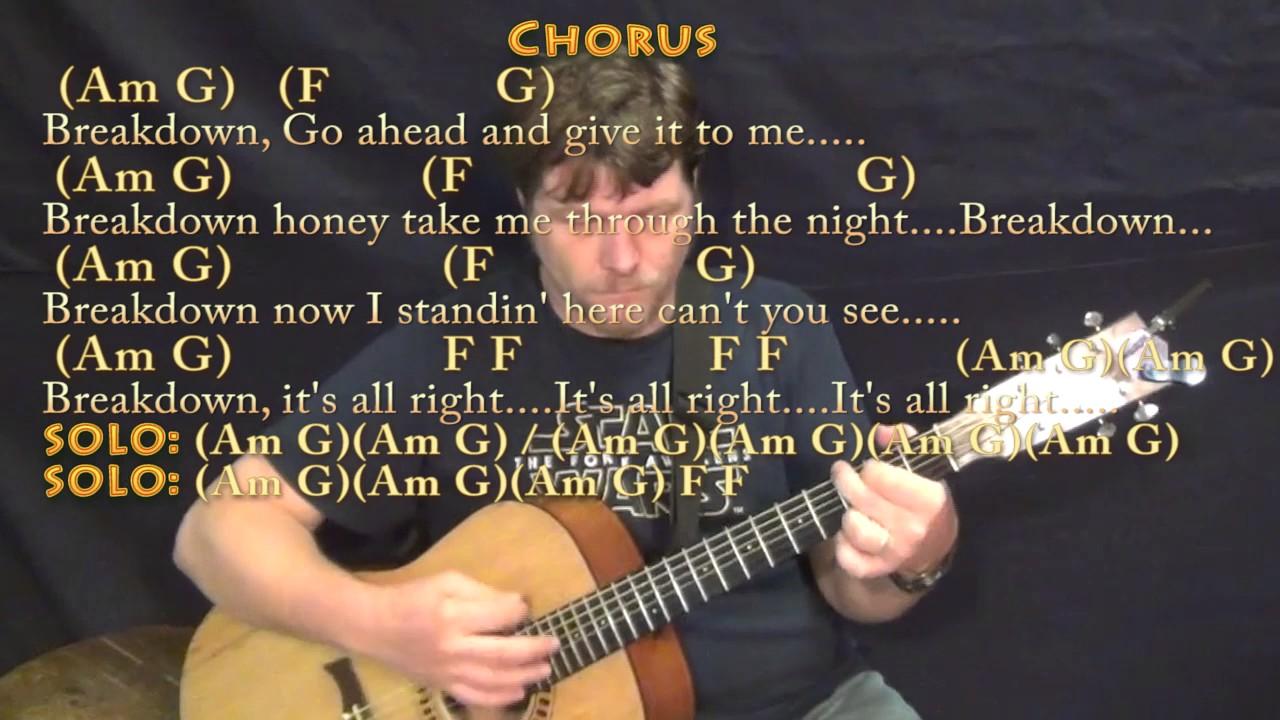 Breakdown Tom Petty Guitar Lesson Chord Chart With Chordslyrics