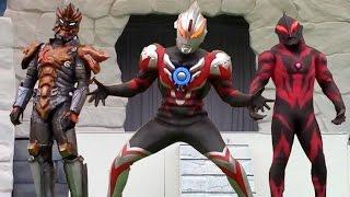 サンダーブレスター 初登場! カッコよすぎ! ウルトラマンオーブショー ジャグラー魔人態 ベリアル も出てくるよ 最前列高画質 特撮 Ultraman show kidsshow thumbnail