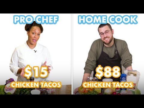 $88 vs $15 Tacos: Pro Chef & Home Cook Swap Ingredients | Epicurious