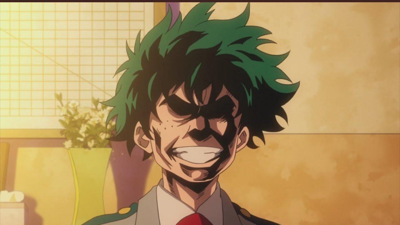 Midoriya Imitates All Might's face  My Hero Academia Funny Moment