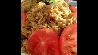 Beef Pilau (pilaf), Skuma Wiki (sauted Kale Or Collard Greens) & Kachumbari(east African Salsa) Meal