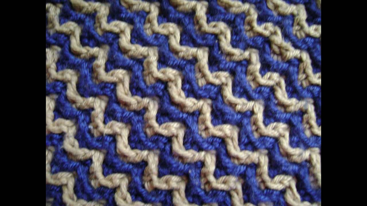 Interlocking Crochet Zigzag Design Youtube