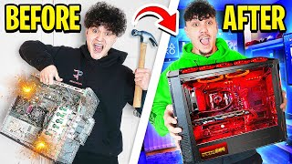 Destroying My Brothers Gaming Setup & Surprising Him With New PC