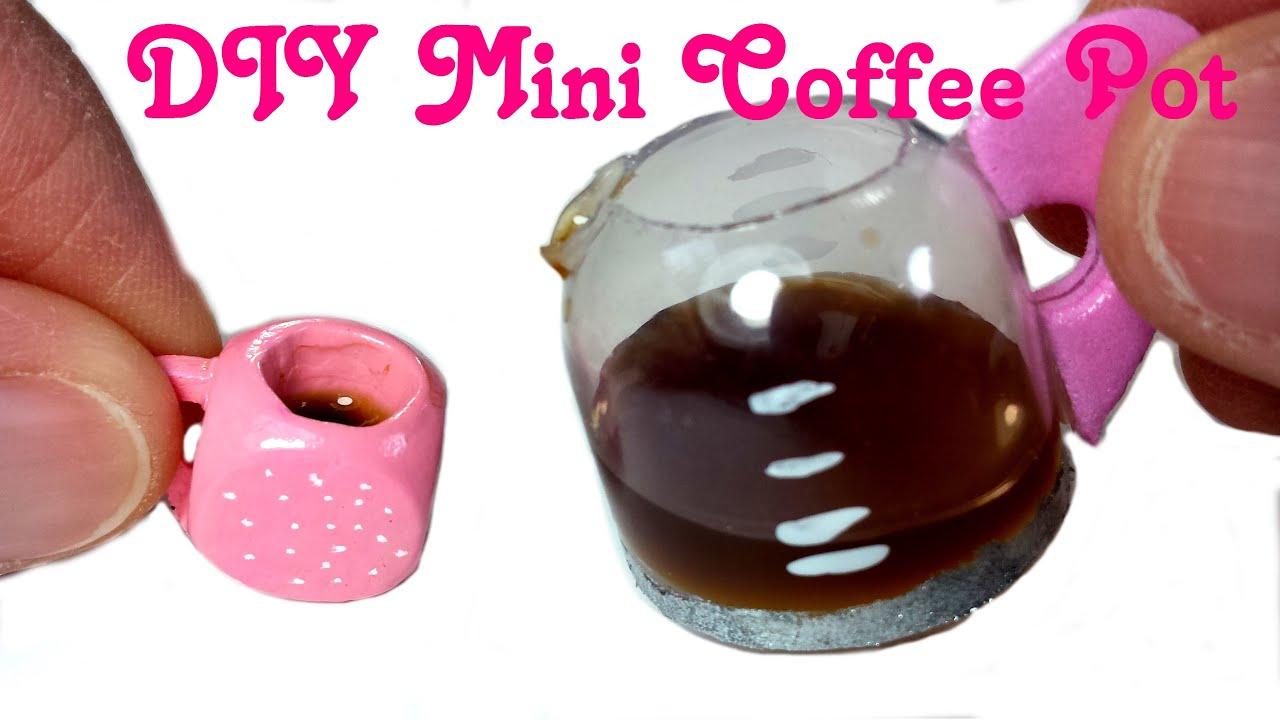 Diy Miniature Doll Working Coffee Pot W Liquid