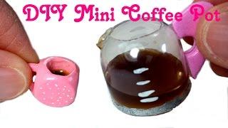 DIY Miniature Doll Working Coffee Pot w/ Liquid