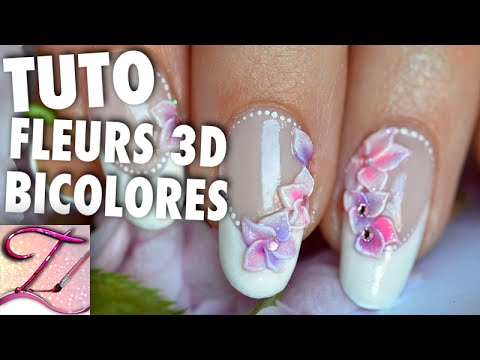 tuto nail art fleurs de cerisier r sine 3d sur french. Black Bedroom Furniture Sets. Home Design Ideas