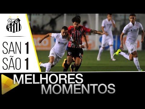 Santos 1 x 1 São Paulo | MELHORES MOMENTOS | Paulistão (27/03/16)