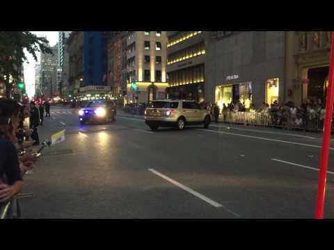 2 UNITED STATES SECRET SERVICE UNITS CONDUCT SECURITY SWEEP IN ANTICIPATION OF POPE FRANCIS VISIT.