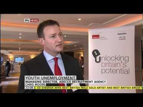 Youth unemployment, Chris Moore Managing Director Adecco Group Solutions