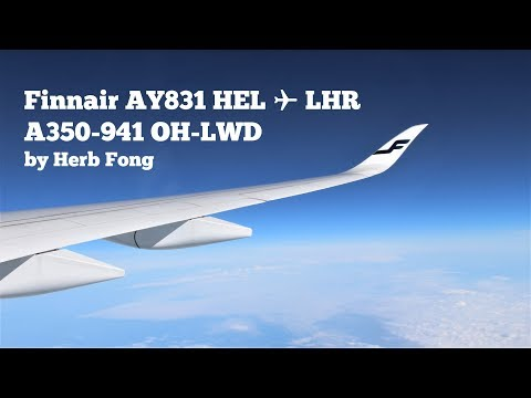 Finnair AY831 HEL ✈ LHR on Airbus A350 XWB OH-LWD