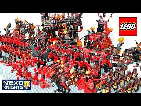 Epic LEGO Nexo Knights Lava Monsters Army Build w/ Jestro General Magmar Lavaria