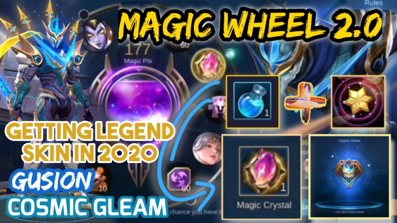 Magic Wheel Trick To Get The Magic Crystal Save Your Diamonds Get The Legend Skin For Free Youtube