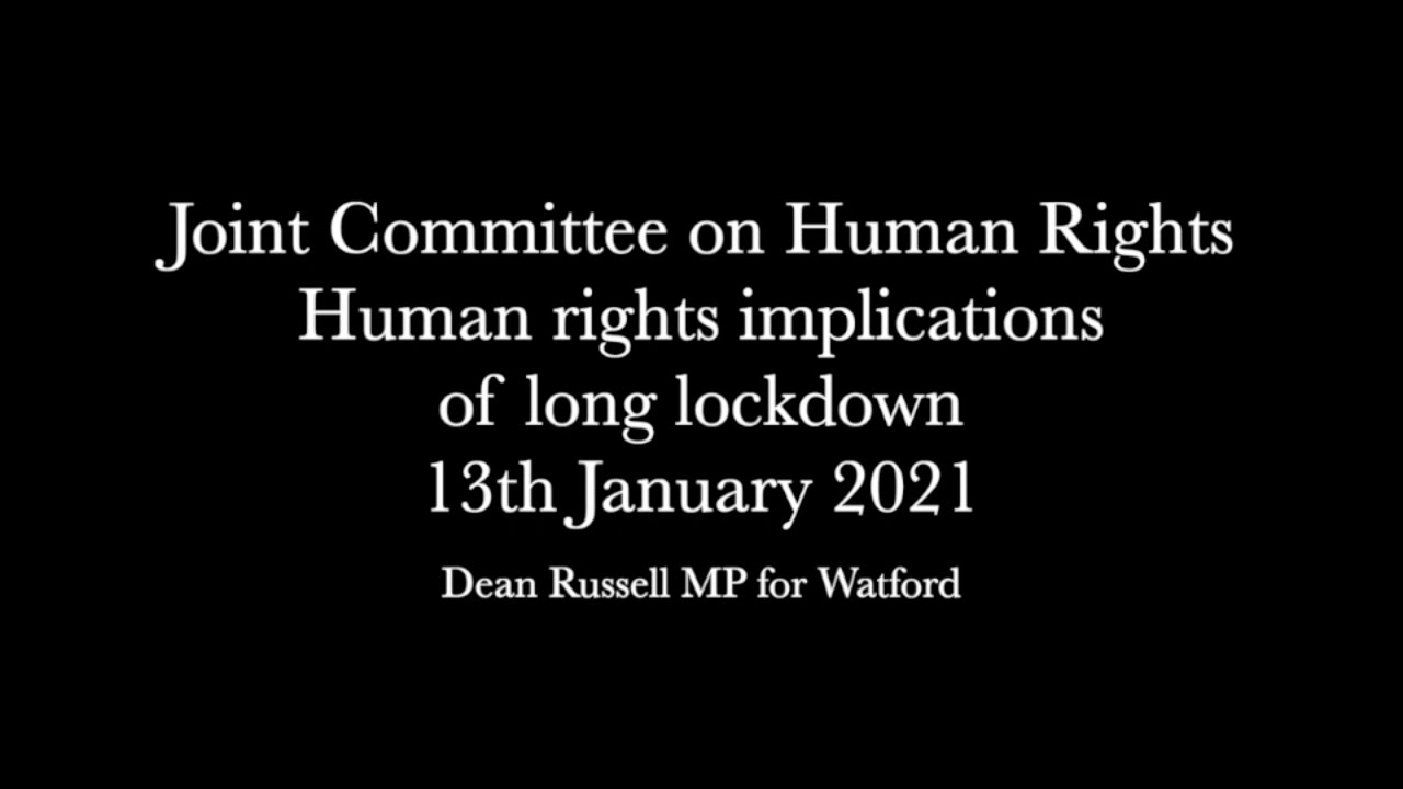 Human Rights Joint Committee: Human rights implications of long lockdown