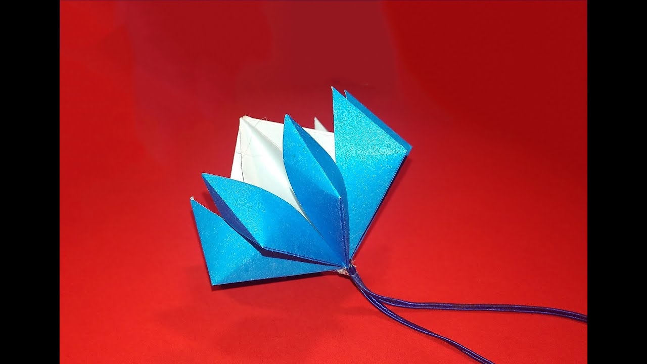 Easy origami christmas ornament origami flower bell paper easy origami christmas ornament origami flower bell paper christmas ornament youtube mightylinksfo