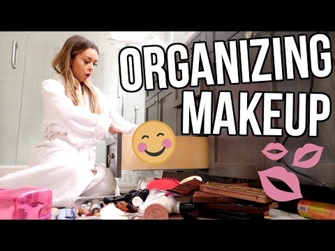 Download Youtube: ORGANIZING MY MAKEUP!