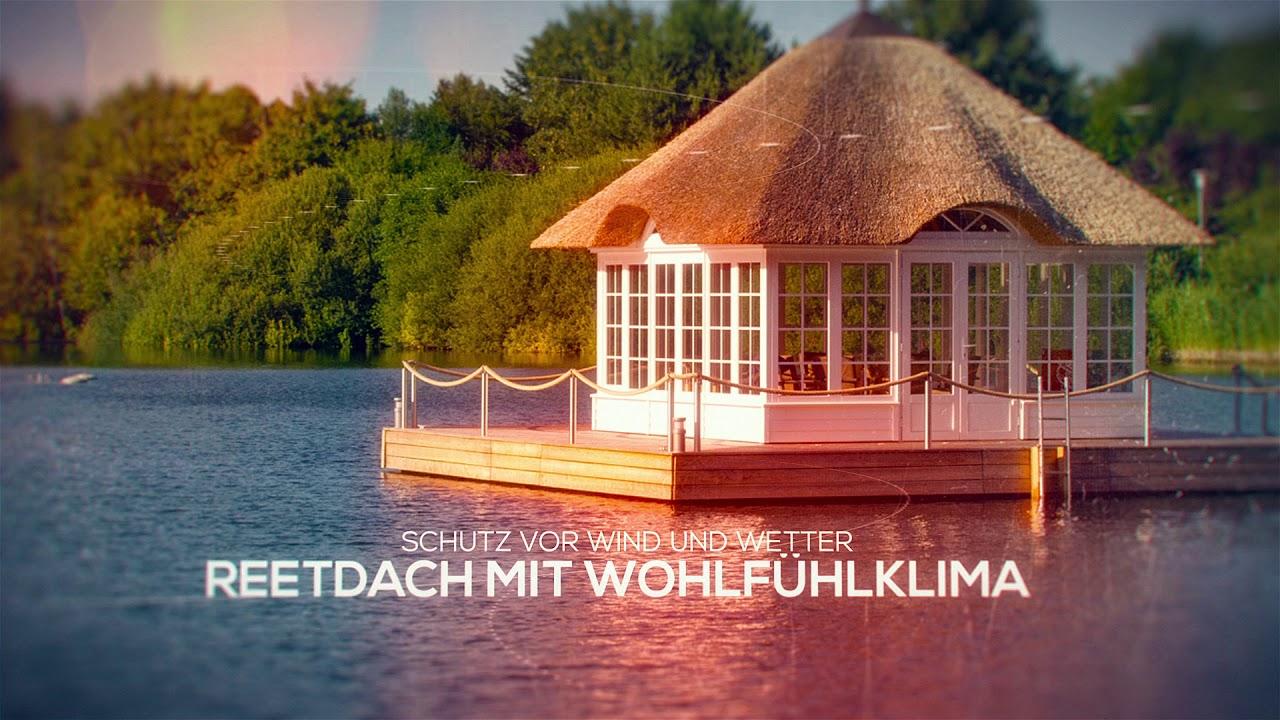 Exklusiver Reetdach Pavillon - Sonderkonstruktion auf Schwimm Ponton ...