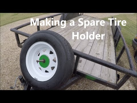 Making a Spare Tire Holder; Fabricating a Spare Tire Mount