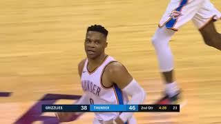 Russell Westbrook Triple Double, Paul George SICK Highlights vs Grizzlies 2019 02 07   27 Pts for PG