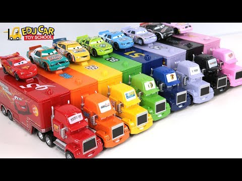 Thumbnail: Learning Color Number Special Disney Pixar Cars Lightning McQueen Mack Truck for kids car toys