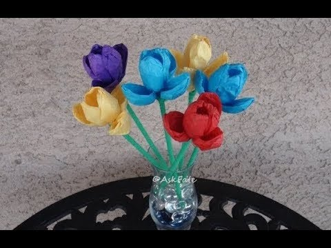 DIY: Tissue Paper Tulips