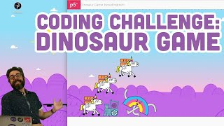 Coding Challenge #147: Chrome Dinosaur Game (with Speech Commands machine learning model!)