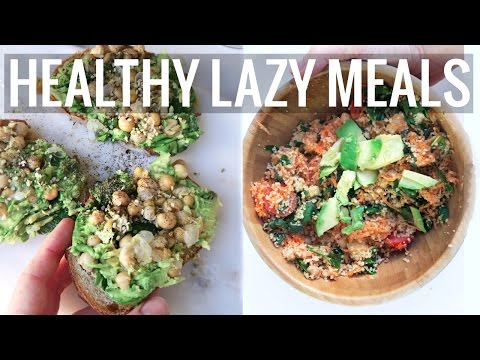 EASY VEGAN MEALS IN UNDER    5 MINUTES ! ♡