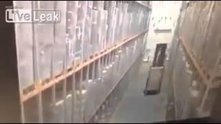 Warehouse Forklift Fail