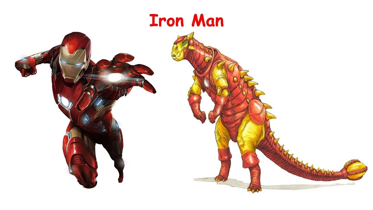 Superheroes As Dinosaurs T REX RAPTOR