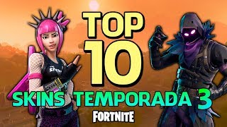 FORTNITE-TOP 10 SKINS DE SEASON 3!