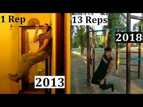 6 YEARS One Arm Pull Up Transformation (2013 - 2018)