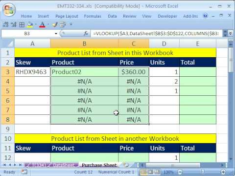 Excel Magic Trick 334 VLOOKUP \ Data Validation for Invoice - YouTube - how to create an invoice on excel