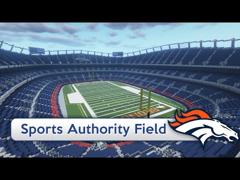 Minecraft - MEGABUILD - Sports Authority Field Stadium (Broncos) + DOWNLOAD [Official]