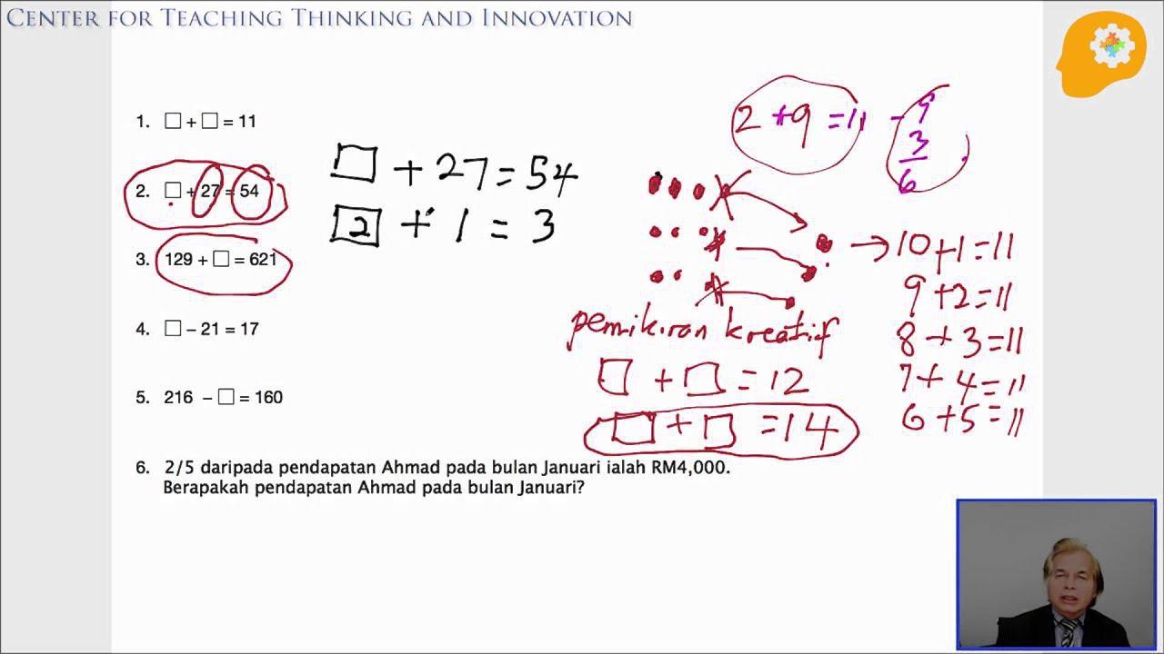 Contoh Kertas Soalan Matematik Tahun 1