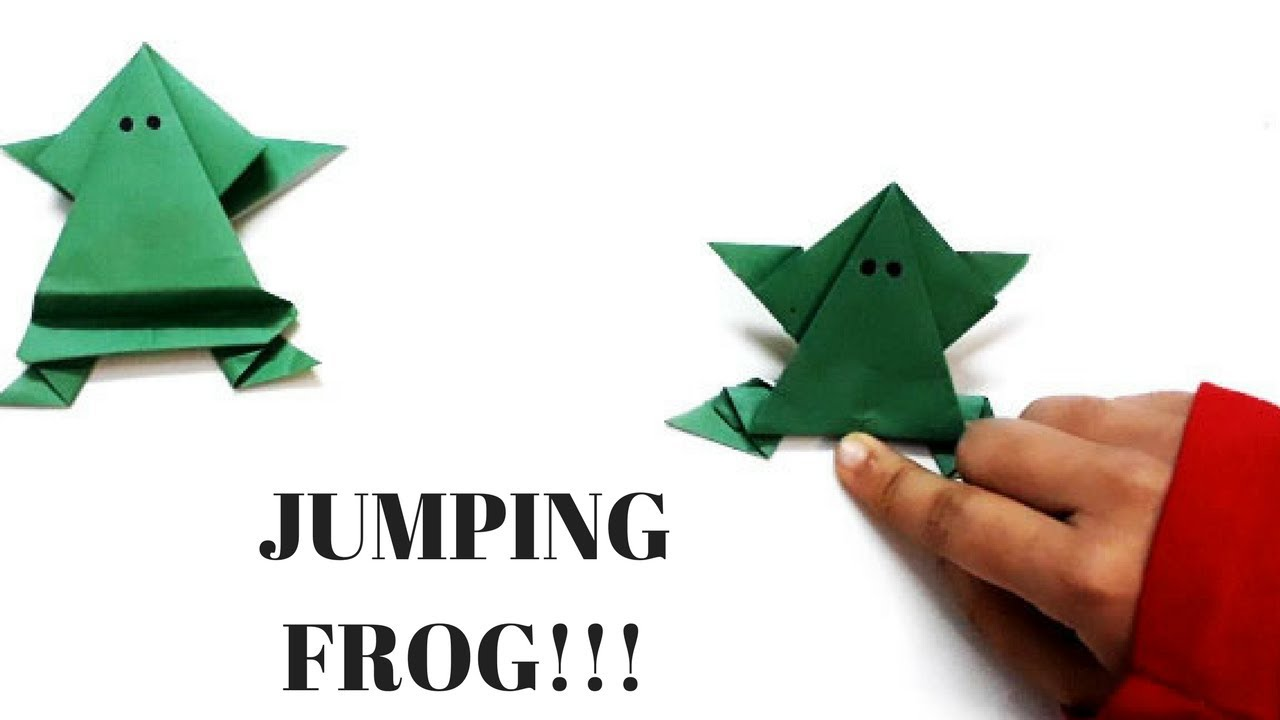 Origami jumping frog easy paper frog diy how to make an origami jumping frog easy paper frog diy how to make an origami frog easy origami frog jeuxipadfo Images