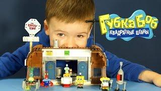 Игрушки из мультика Губка Боб в 3Д - на русском. Конструктор Спанч Боб. Mega bloks 94613 Spongebob