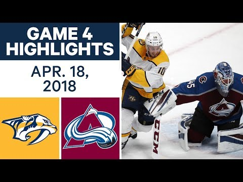 NHL Highlights | Predators vs. Avalanche, Game 4 - Apr. 18, 2018