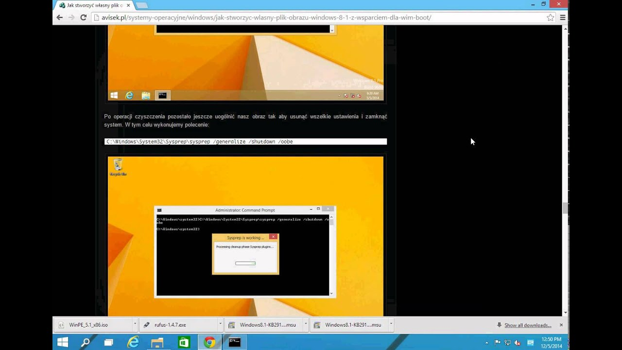 How to make and deploy Windows 8 1 in WIM-Boot technology