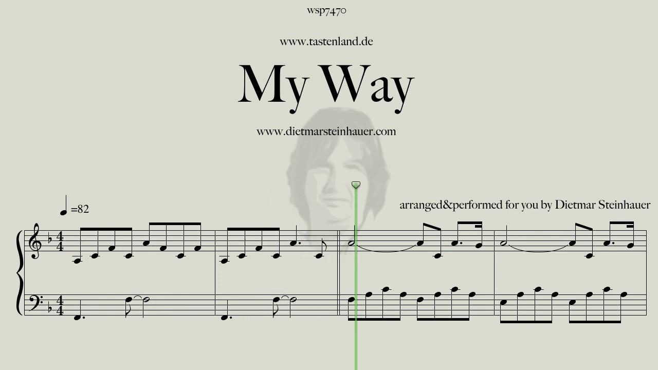 My Way Frank Sinatra Für Klavier Gesucht Clavio Klavierforum