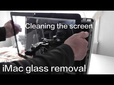 Apple iMac Glass Removal and Cleaning tutorial